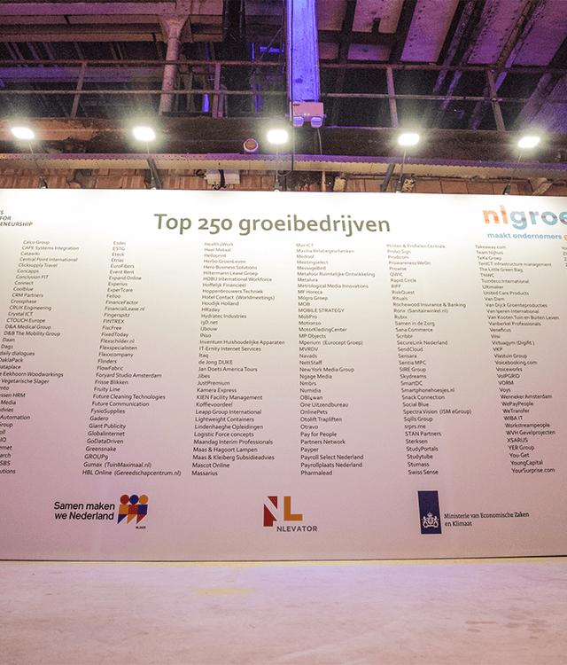 nlgroeit - bedrijven uit de Top 250 Groeibedrijven 2018